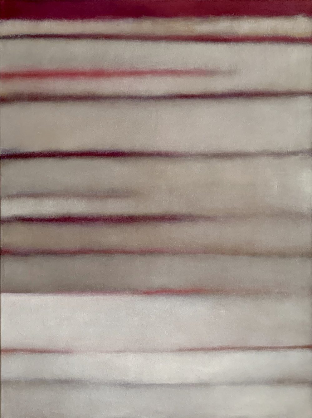 """The White Series I  oil on linen 48""""x 36"""" ( 122 x 91.5 cm ) 2019"""