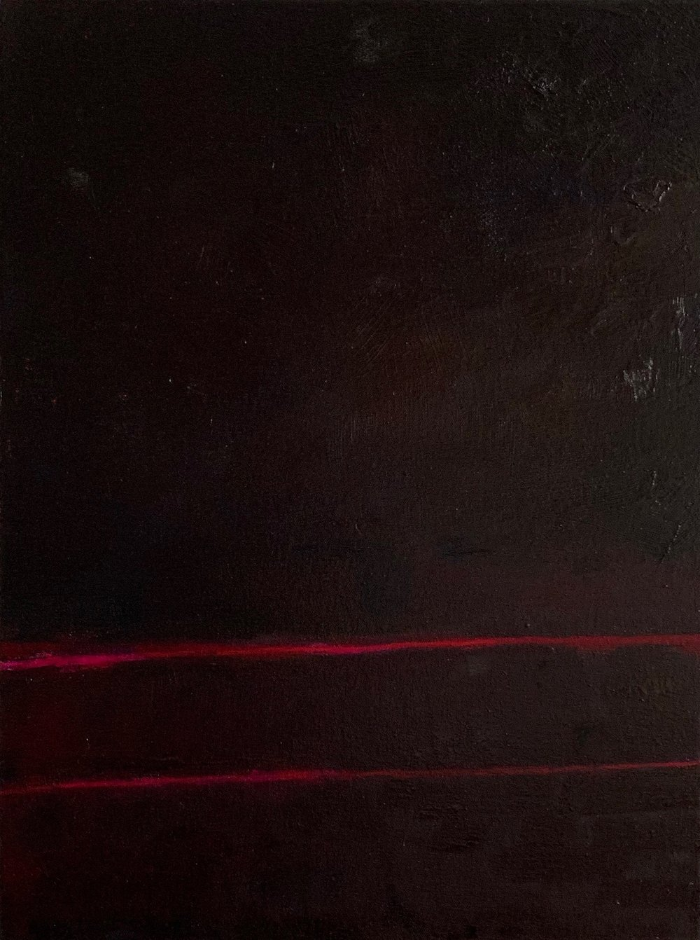 """Red Nocturne XII oil on canvas 24"""" x 18"""" ( 61 x 45.7 cm ) 2018"""