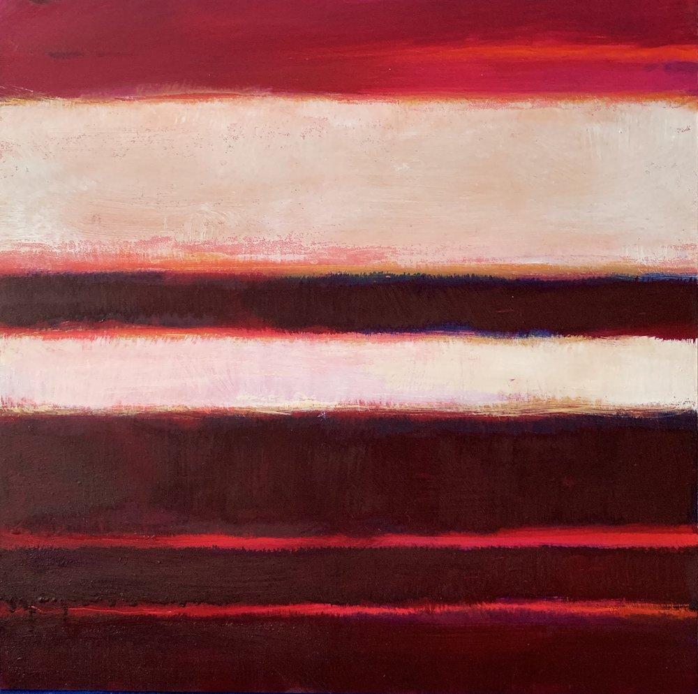 "Nocturne XX  oil on wood panel 10""x 10"" ( 25.4 x 25.4 cm) 2018"