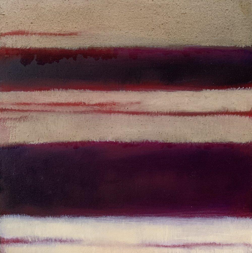 "Nocturne XIX  oil on wood panel 8""x 8"" ( 20.3 x 20.3 cm) 2018"