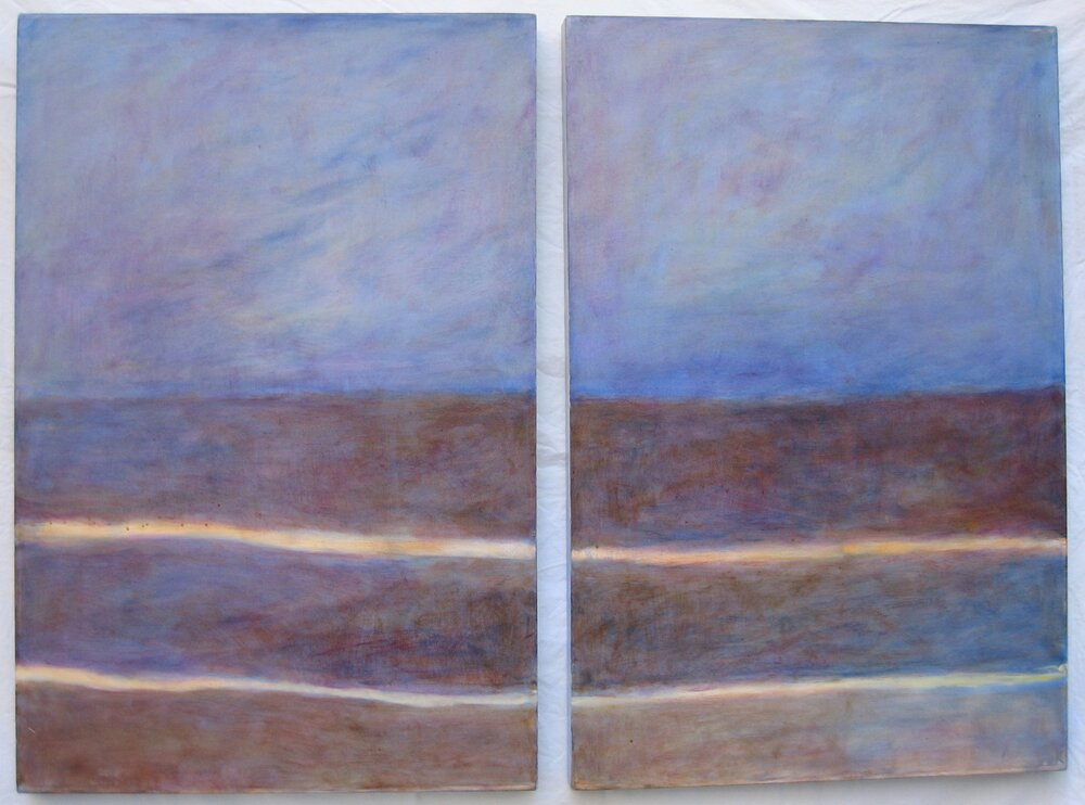 Diptych One  oil on canvas (2) 24in x 36in