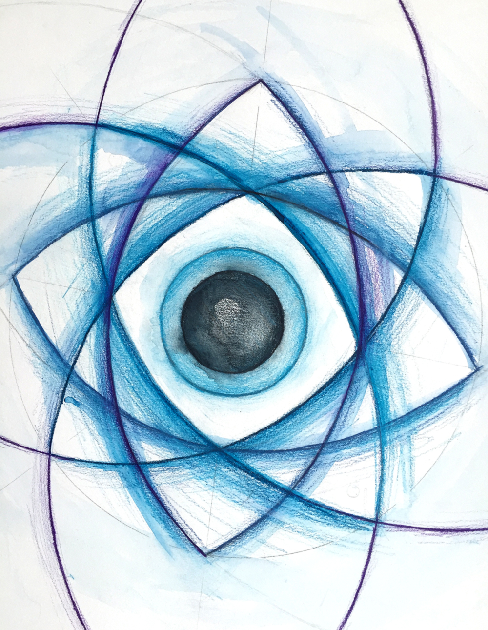 Imagining the Event Horizon | Watercolour pencil and paint |  2015 | © Cherie Aarts Coley