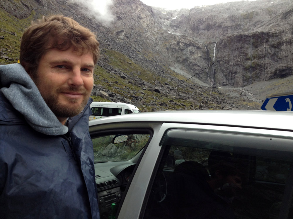 Matt on the way to Milford Sound last year.