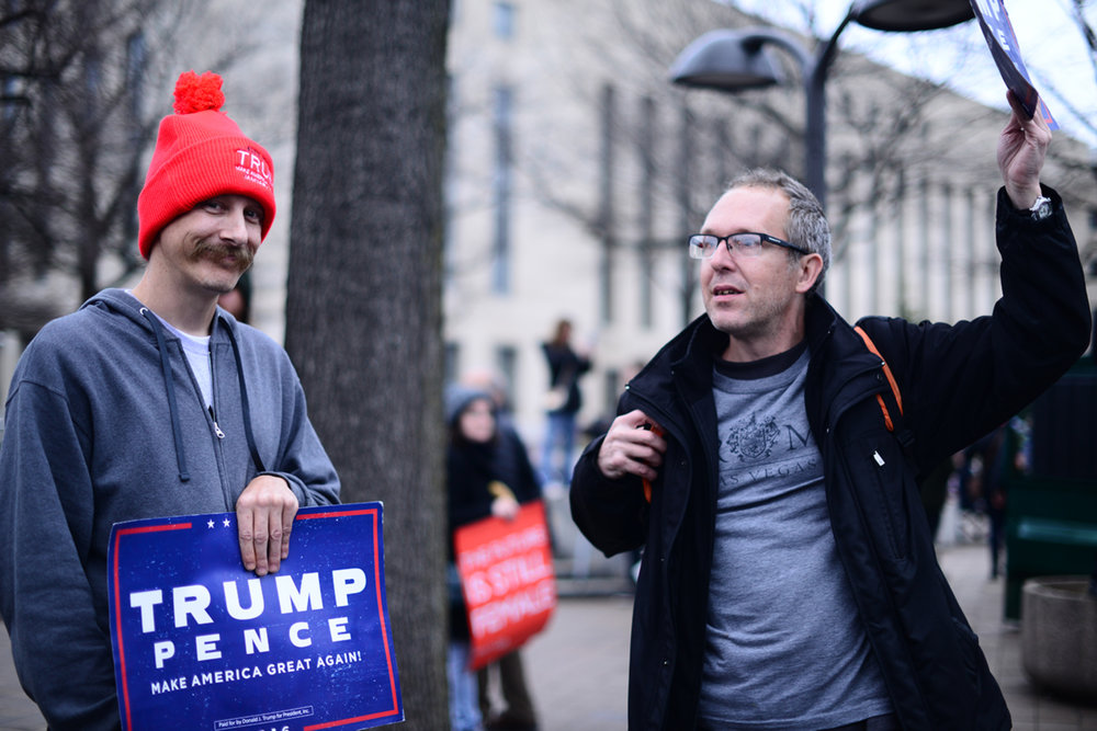 Even a Trump supporter couldn't resist a smile.