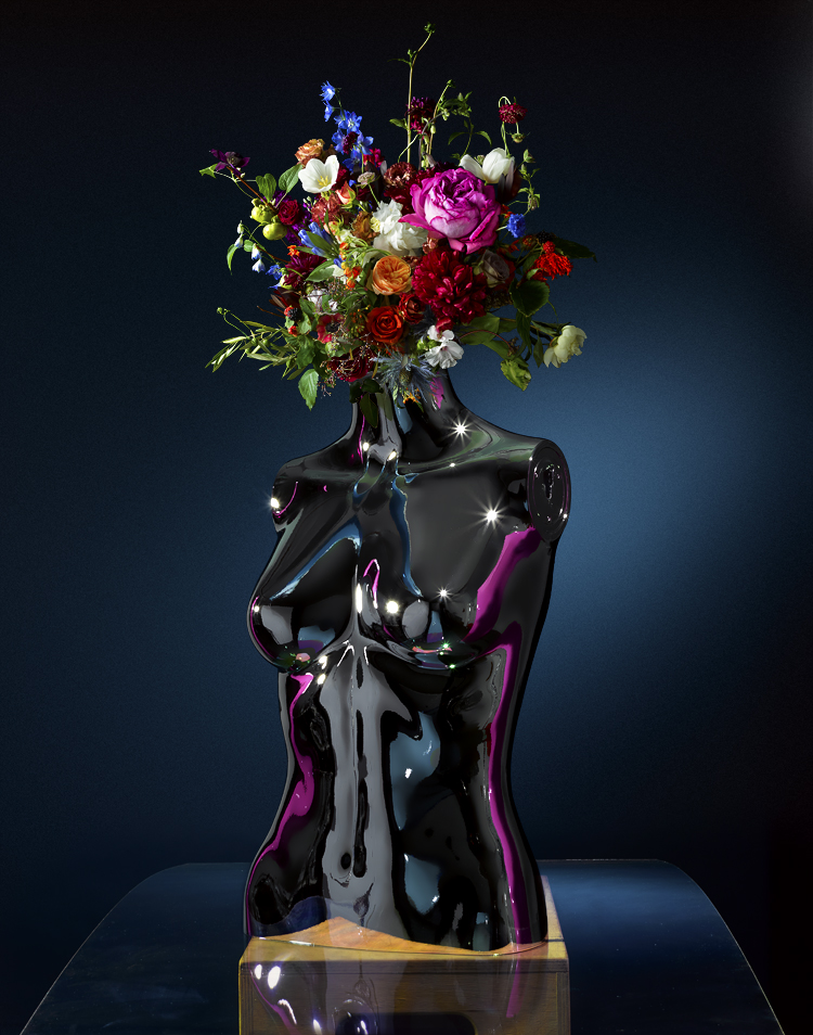 Chrome flower head mannequin19512 newest.jpg