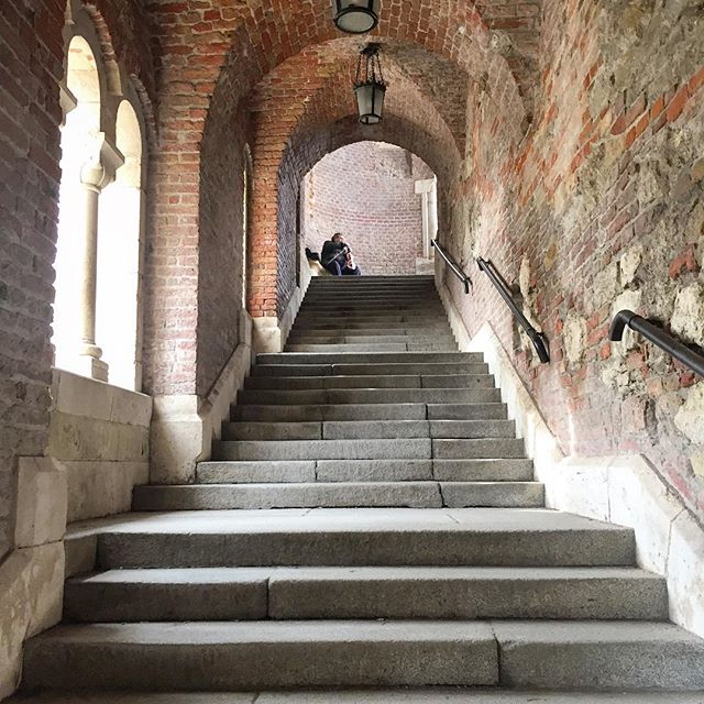 #budapest #castle #stairs #shadowsandlight #shadow #light #budacastle #hungary