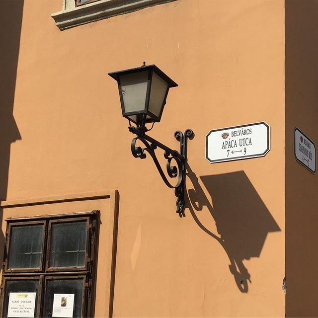#shadow #light #ihaveathingforwalls #architecturephotography #győr #streetlight