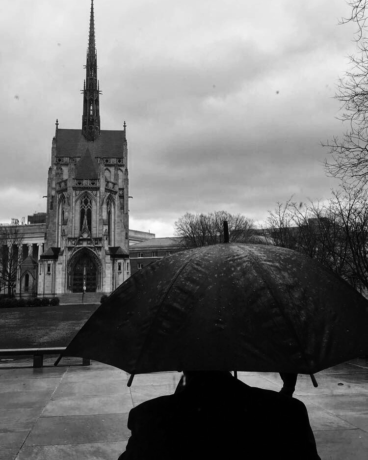 """""""Rain on the Cathedral Lawn"""""""