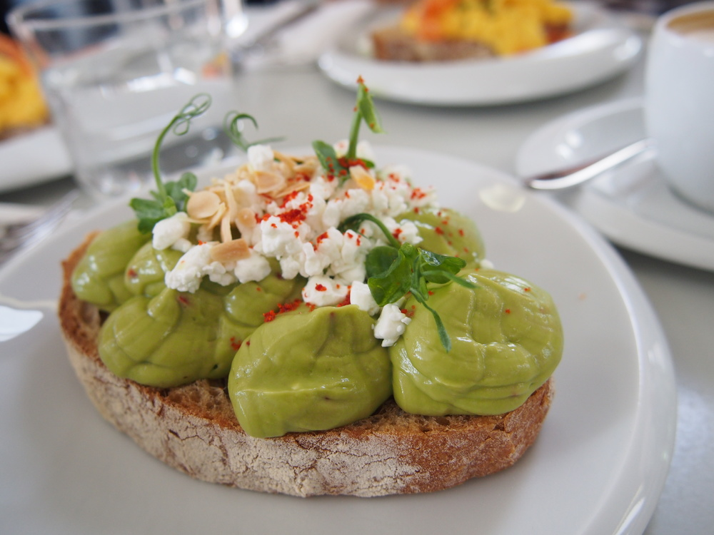 Crushed Avocado, Cottage Cheese and Piquillo Peppers (v)