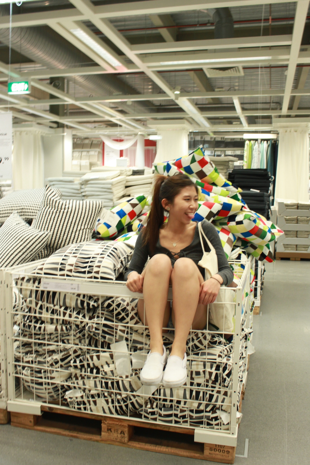 Hanging around ikea like a kid