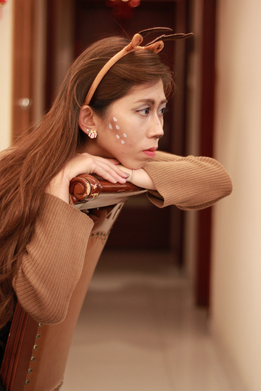 Giordano Ladies camel turtleneck / Giordano Ladies leather midi skirt