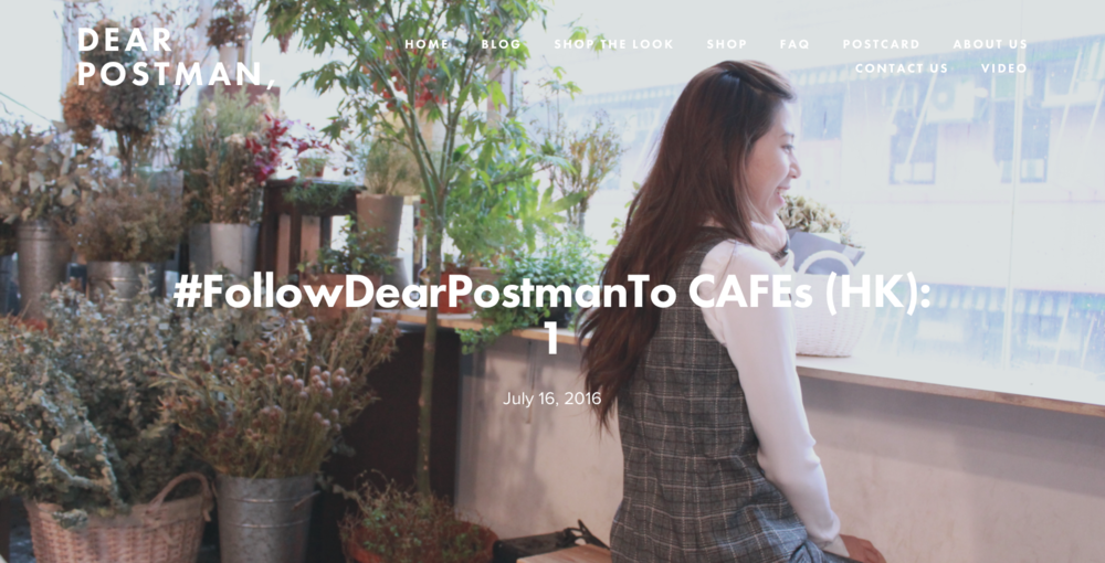 #FollowDearPostmanTo CAFEs (HK): 1