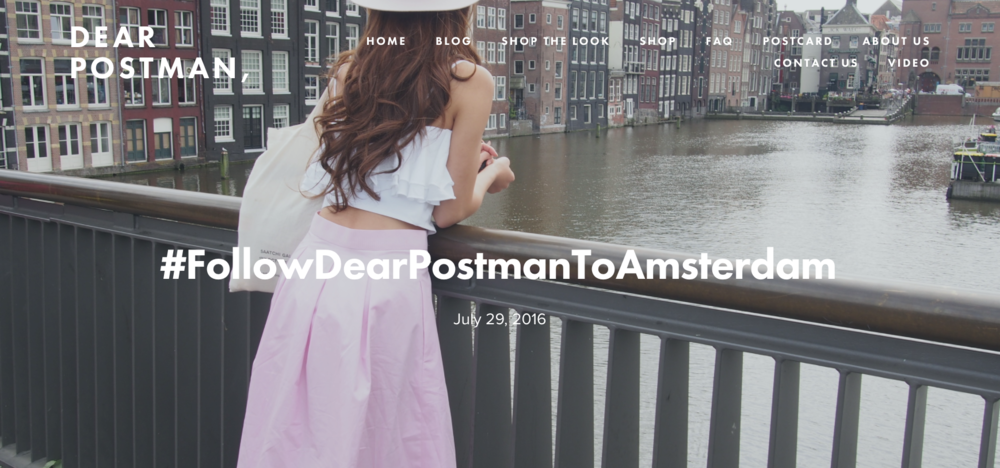 #FollowDearPostmanToAmsterdam