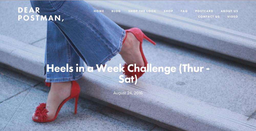 Heels in a Week (Thur - Sat)