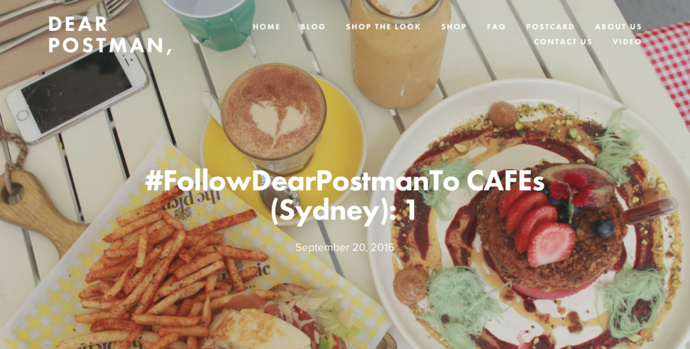 #FollowDearPostmanToCAFEs (Sydney): 1