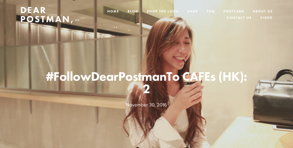 #FollowDearPostmanTo CAFEs (HK): 2
