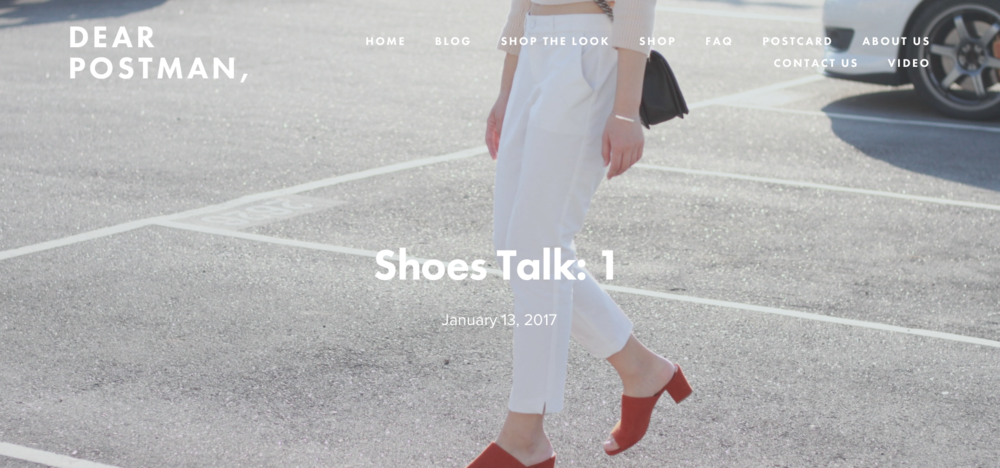 Shoes Talk: 1