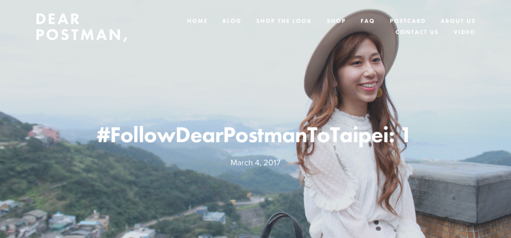 #FollowDearPostmanToTaipei: 1