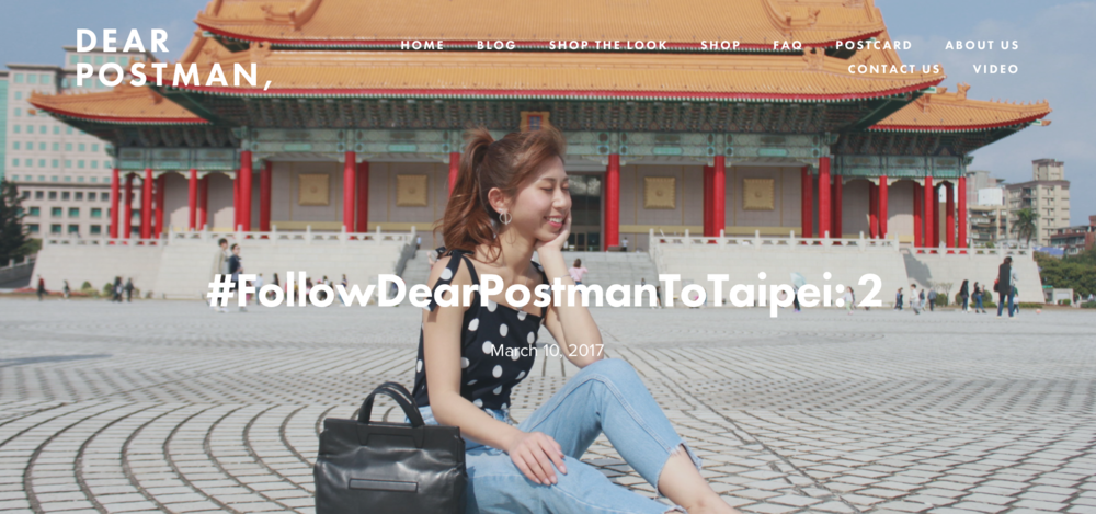 #FollowDearPostmanToTaipei: 2