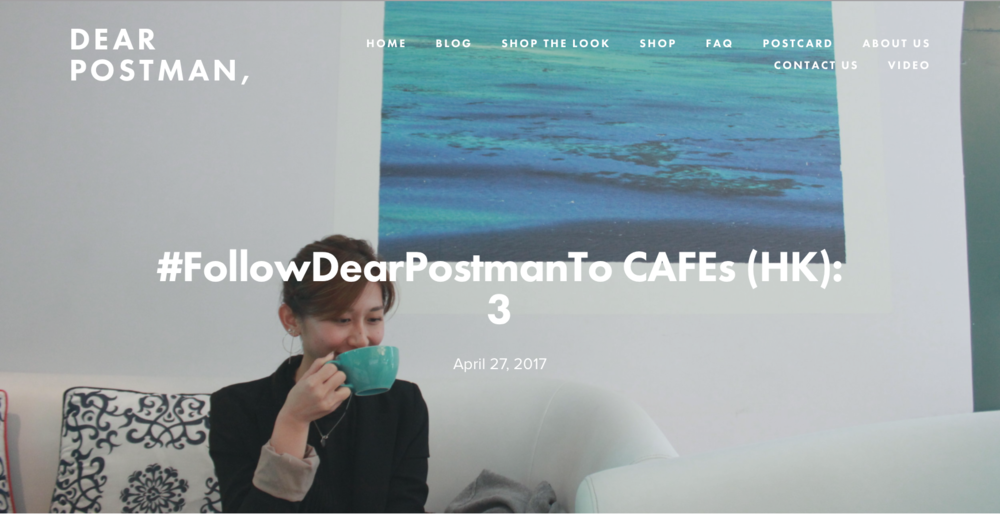 #FollowDearPostmanTo CAFEs (HK): 3