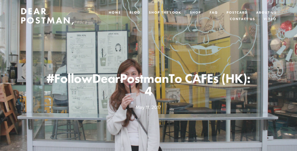#FollowDearPostmanTo CAFEs (HK): 4