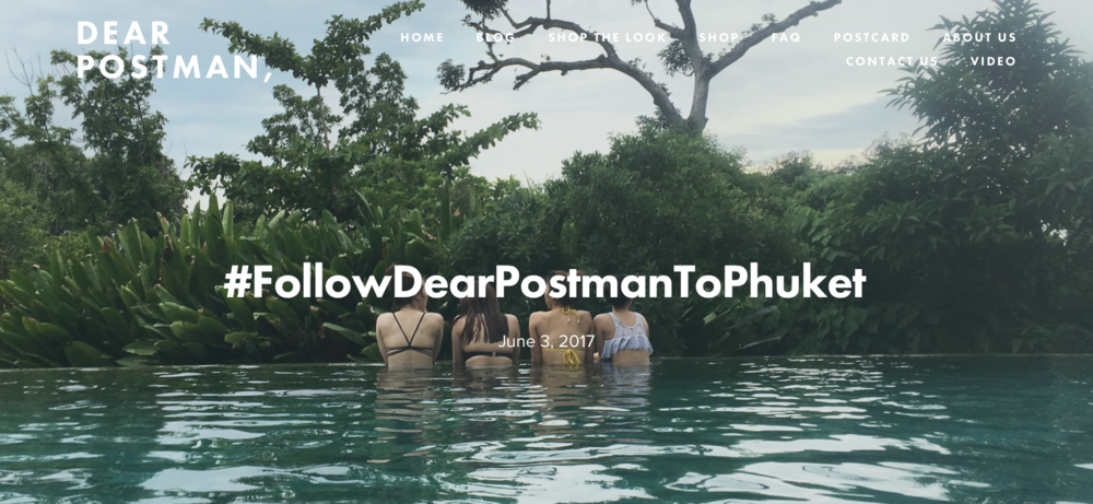 #FollowDearPostmanToPhuket