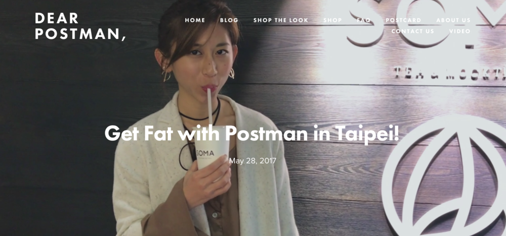Get Fat with Postman in Taipei!
