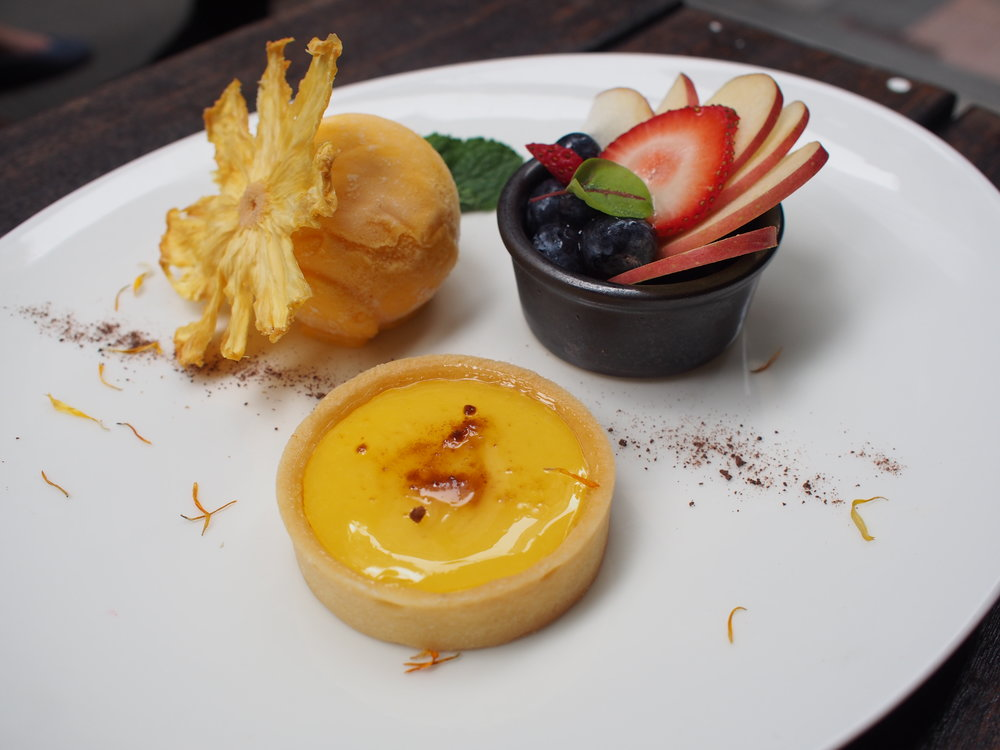 Lemon Tart with Ice Cream + Homemade Dried Pineapple