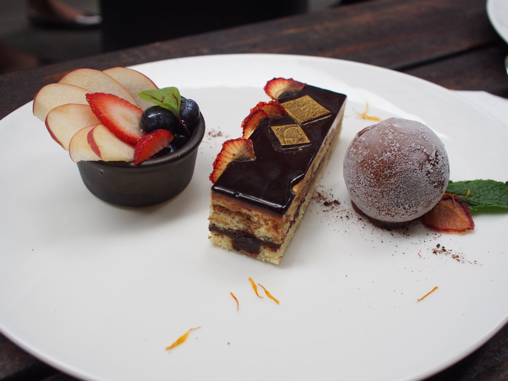 Opera Cake with Ice Cream + Homemade Dried Strawberry