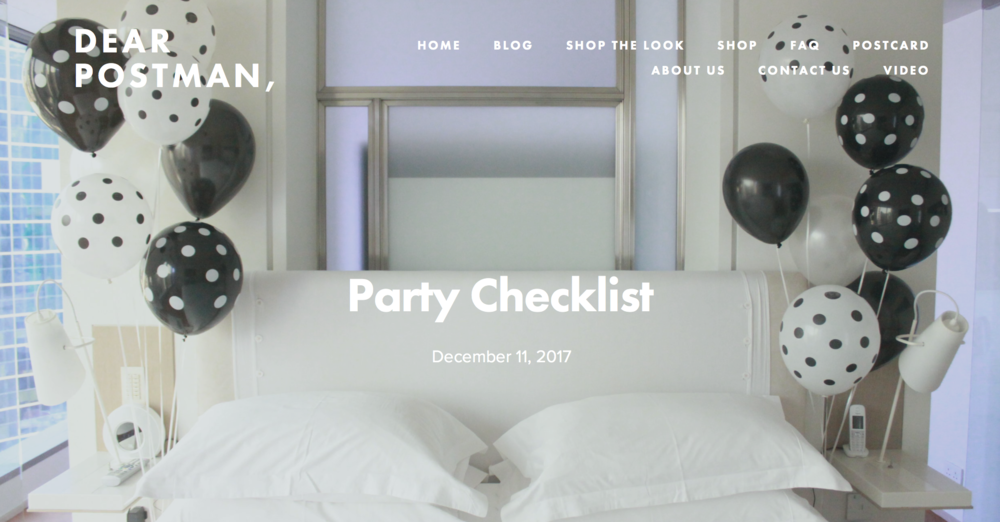 Party Checklist