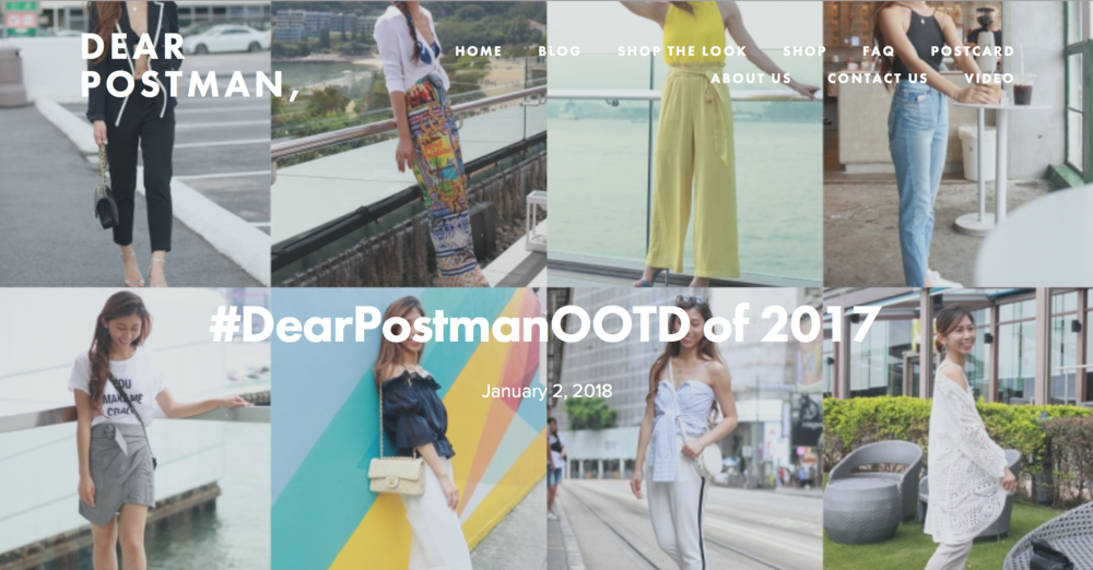 #DearPostmanOOTD of 2017
