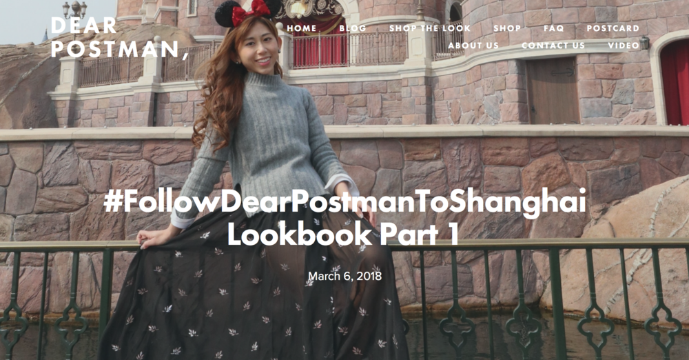 #FollowDearPostmanToShanghai Lookbook Part 1