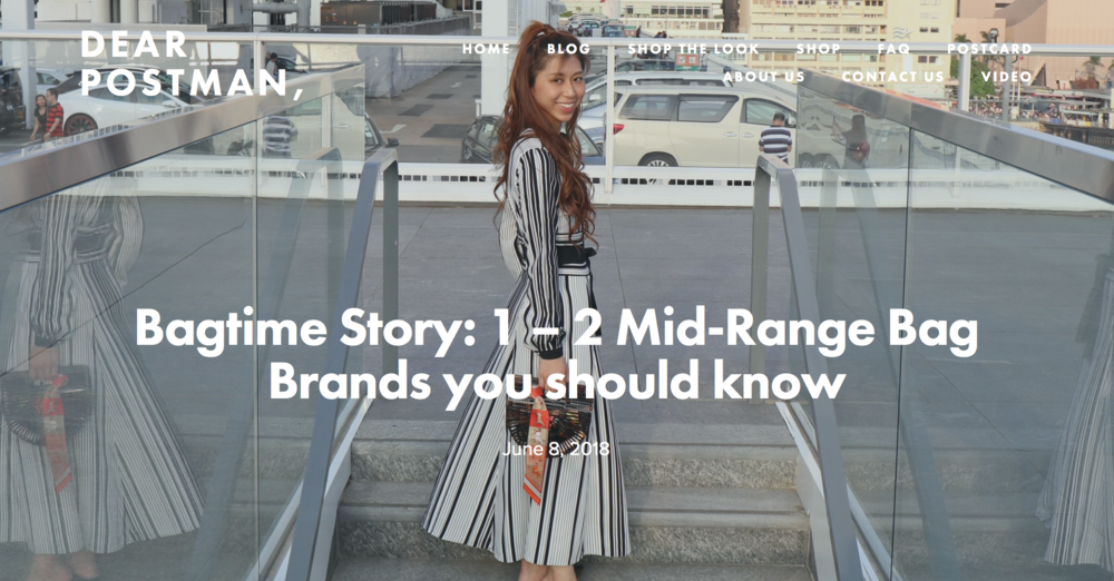Bagtime Story: 1 – 2 Mid-Range Bag Brands you should know