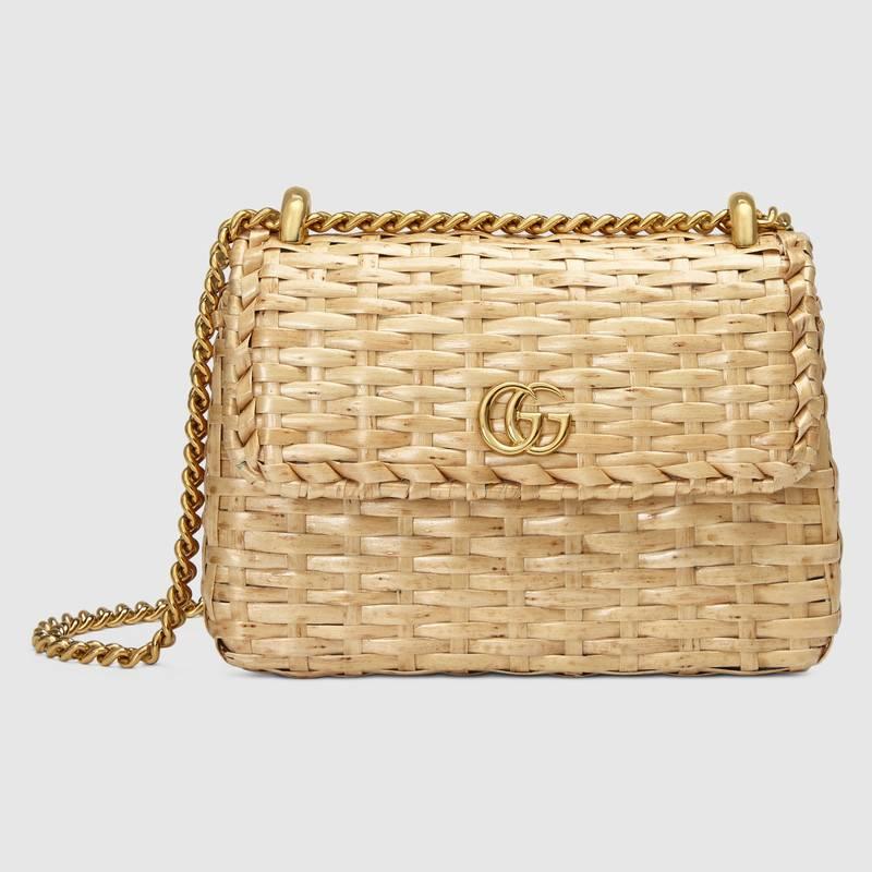 Gucci Cestino GG woven-wicker cross-body bag