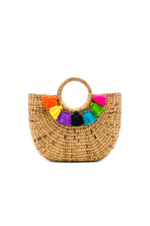 JADEtribe basket small 7 tassel