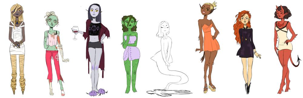 Tri Phi character lineup.