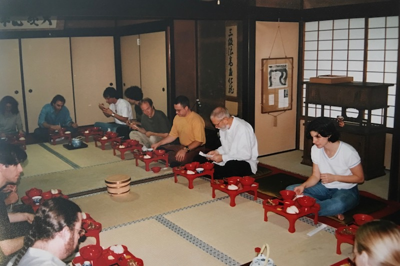 A silent band breakfast in a Buddhist Monastery - Kyoto Japan
