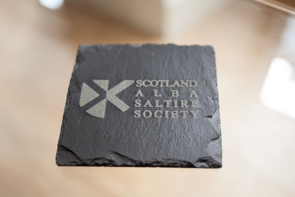 Business branded slate coasters