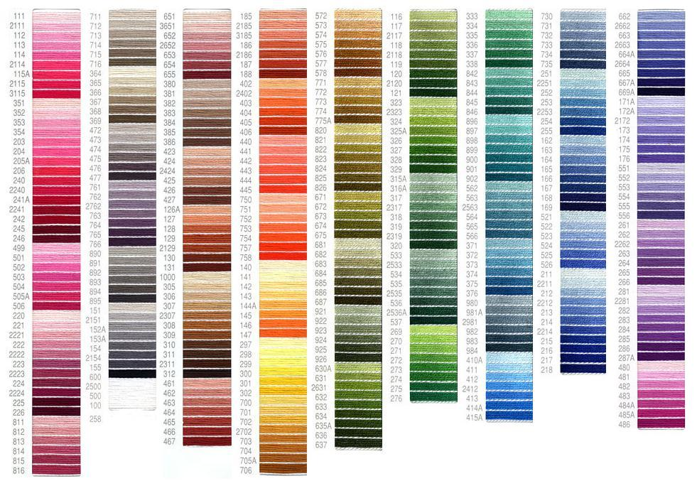 Dmc Embroidery Floss Color Chart Ausbeta
