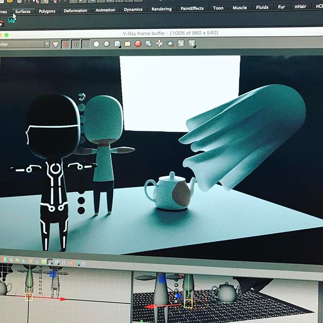 A look back at the beginning of the look dev phase. #animation3d