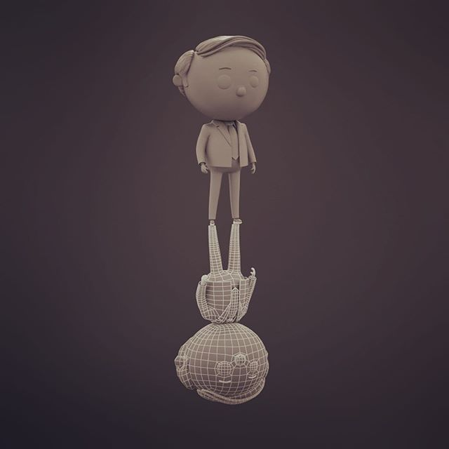 Suit and tie #3dmodel #3dcharacter