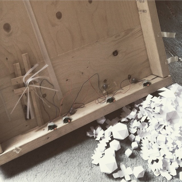 Something #kinetic is happening today. #art #sculpture #paper #studio #exhibition #residency #iceland