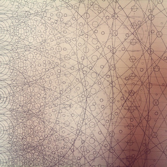 The detail of this #drawing is reaching a whole new level. #art #geometry #symmetry #Iceland #studio #residency