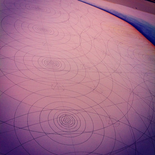 #circles galore this morning. You can almost feel the #reverberation. #art #drawing #geometry #sound #Iceland #residency