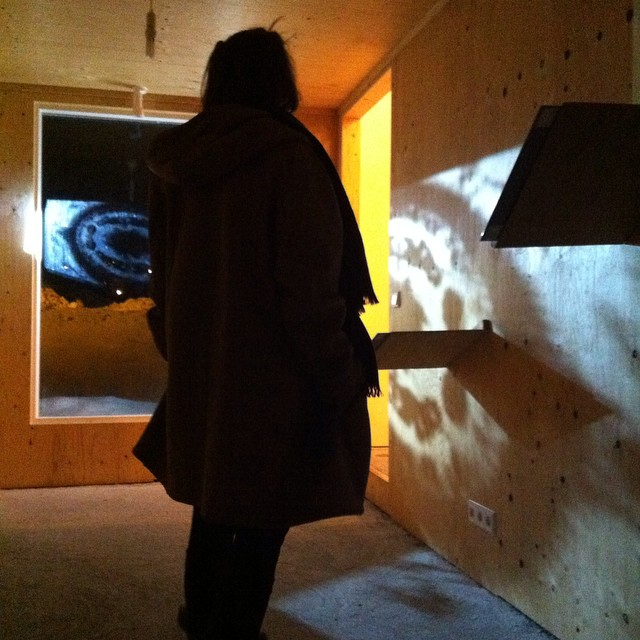 Lots of #reflection going on last night at #heima . #art #sculpture #projection #video #installation #painting #drawing #residency #Iceland