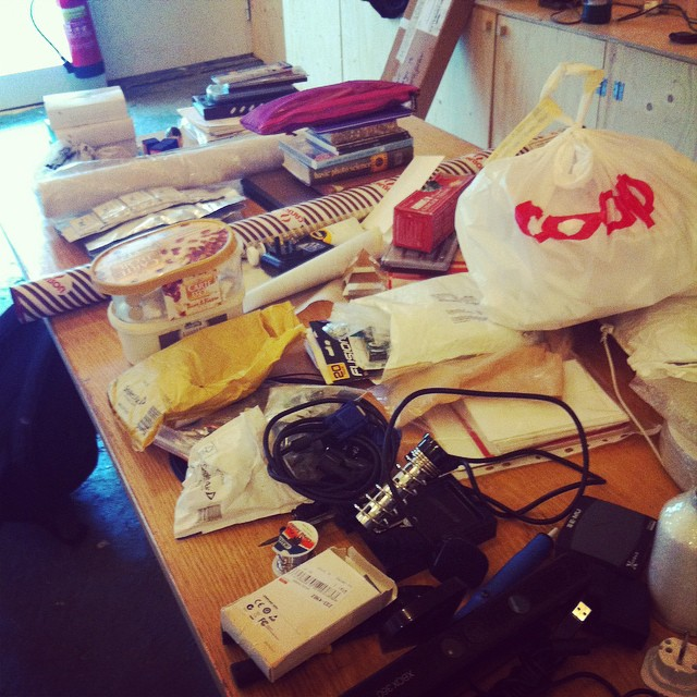 Unpacked but not quite settled in. #art #sculpture #science #installation #residency #Iceland #heima #studio