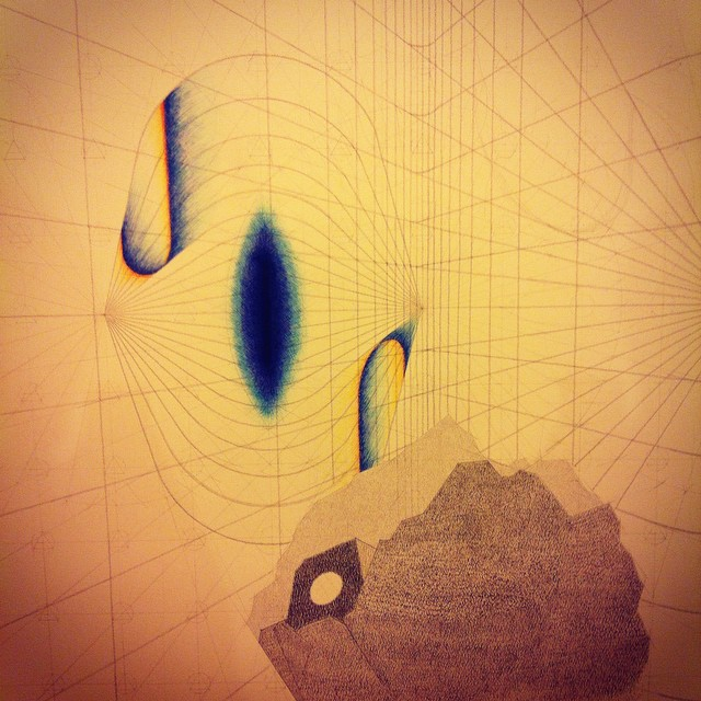 That glow I was aiming for is starting to appear. Detail of work in progress. #art #drawing #geometry #geology #duality #perspective #perception #landscape #Iceland #heima