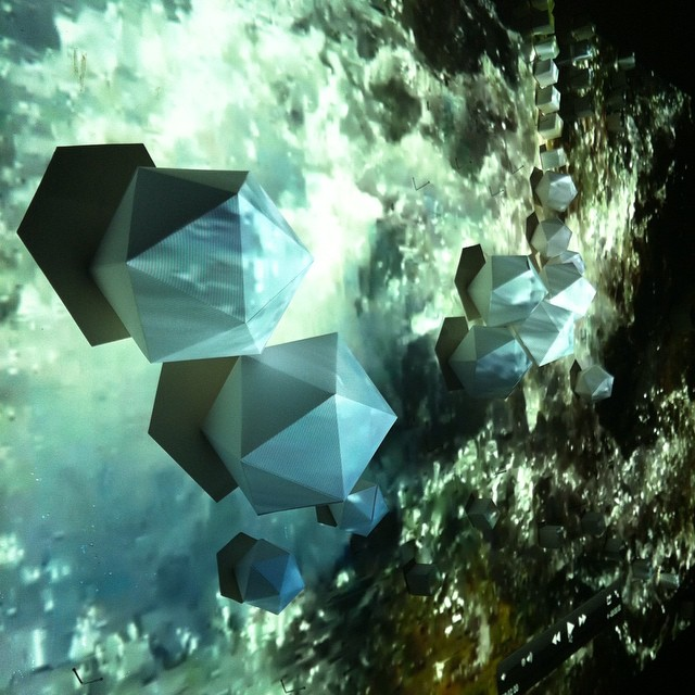 #video and #paper #installation with #platonicsolids is definitely making headway. #art #sculpture #science #geometry #geology #landscape #water #earth #iceland