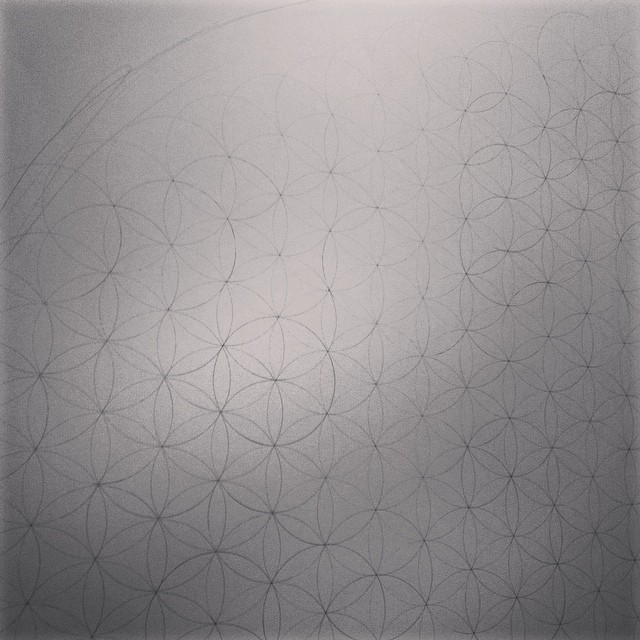Prep for another big #drawing begins. The second largest piece on my #residency in #iceland at #heima . #art #science #geometry #symmetry #ice