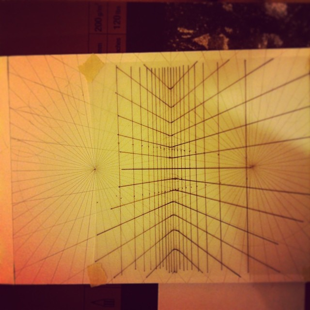 Tackling #perspective head on today. #art #drawing #sculpture #science #geometry #grid #lines
